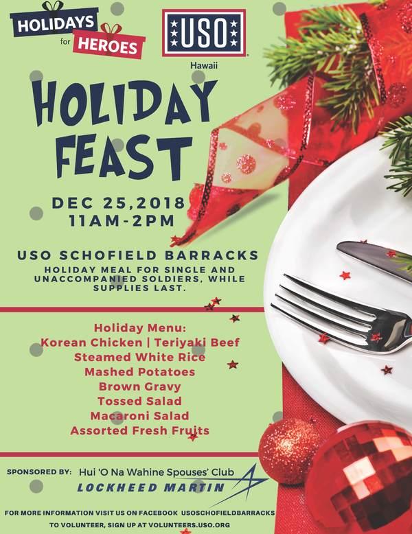 Christmas In Hawaii Movie.Uso Schofield Barracks Christmas Day Holiday Feast Uso Hawaii
